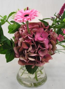 Boeket nouveau roze wit