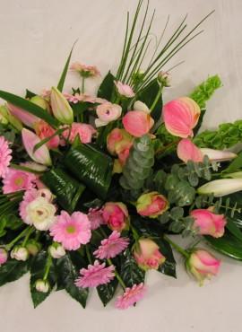 Rouwarrangement roze 34