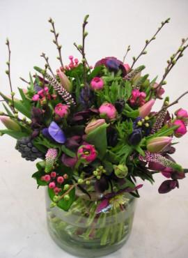boeket Voorjaar roze paars